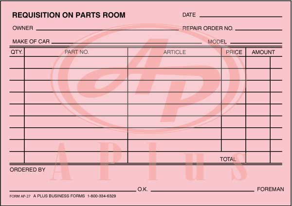 Part Requisition Form