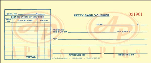 AP DSA 130 * Petty Cash Voucher * Quantity 1000. View Images  Petty Cash Voucher Example