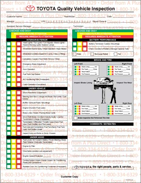 Sample Vehicle Inspection Checklist Template - 9+ Free
