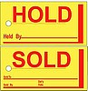 AP-850 * Jumbo HOLD / SOLD Signs * Quantity 250