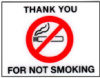 #6044 • No Smoking Static Cling • Quantity 20